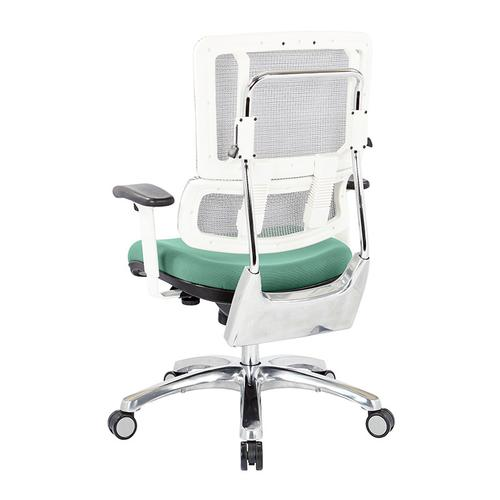 Breathable White Vertical Mesh Chair