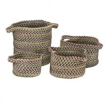 """American Farmhouse 4-Set Vintage Bskts Basket AF18 Cashew 10"""" X 7"""""""