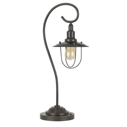 See Details - 60W Vigo Metal Downbridge Table Lamp (Edison Bulb included)