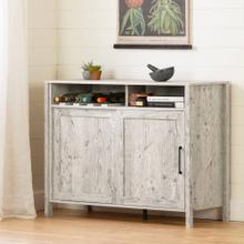 Buffet with Sliding Door - Seaside Pine