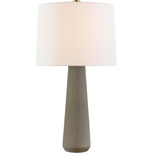 Visual Comfort BBL3901SHG-L Barbara Barry Athens 33 inch 100 watt Shellish Gray Table Lamp Portable Light, Large