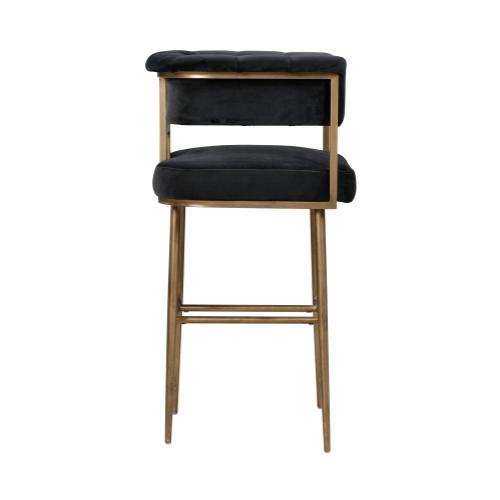 Product Image - Astrid Grey Velvet Bar Stool