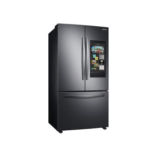 Samsung - 28 cu. ft. 3-Door French Door Refrigerator with Family Hub™ in Black Stainless Steel