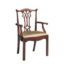 See Details - CONNECTICUT POLISHED MAHOGANY ARM CHAIR