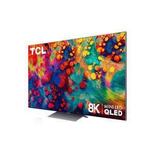 "TCL - TCL 65"" Class 6-Series 8K Mini-LED QLED Dolby Vision HDR Smart Roku TV - 65R648"