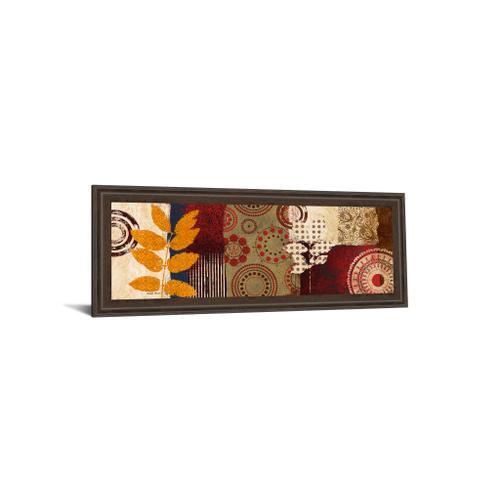 "Classy Art - ""Fall Leaf Panel Il"" By Michael Marcon Framed Print Wall Art"