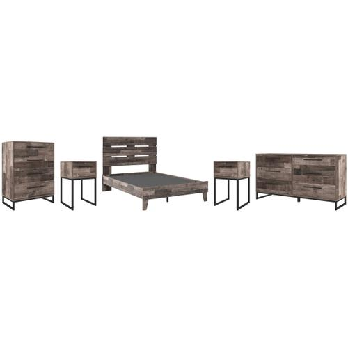 Full Platform Bed With Dresser, Chest and 2 Nightstands