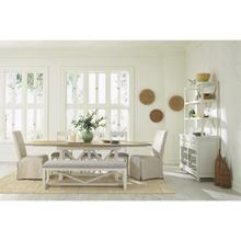 View Product - Osborne - Upholstered Dining Bench - Winter White Finish