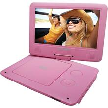 "9"" Portable DVD Player with 5-Hour Battery (Pink)"
