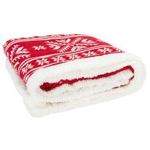 See Details - Wintry Sherpa Throw - Red