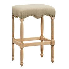 "Yorkshire 30"" Fabric Bar Stool, Linen"