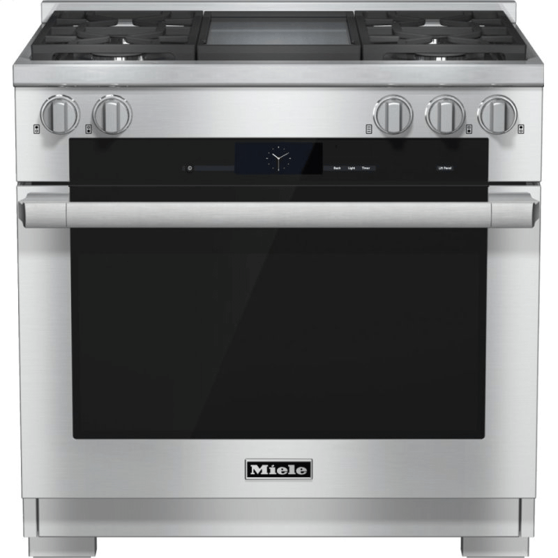 HR 1936-2 G - 36 inch range Dual Fuel with M Touch controls, Moisture Plus and M Pro dual stacked burners