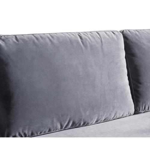 Milan Grey Velvet Sofa