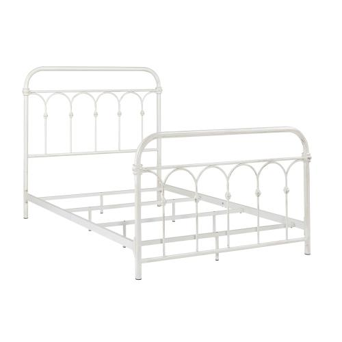 Hallwood Bed - Full, Antique White Finish