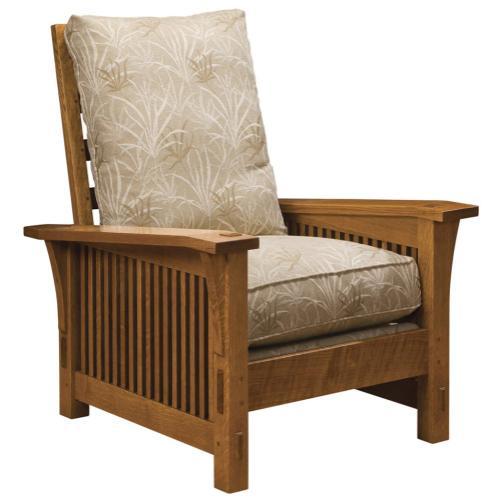 Stickley Furniture - Loose Cushion, Oak Spindle Morris Chair