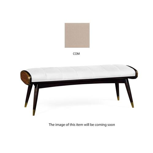 Mid-century bench upholstered in COM