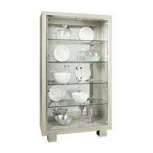 Cydney Contemporary 5 Shelf Curio with Touch Lighting