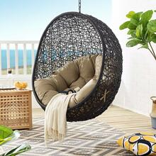 Encase Swing Outdoor Patio Lounge Chair Without Stand in Black Mocha