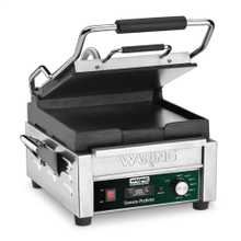 Compact Italian-Style Flat Grill with Timer - 120V