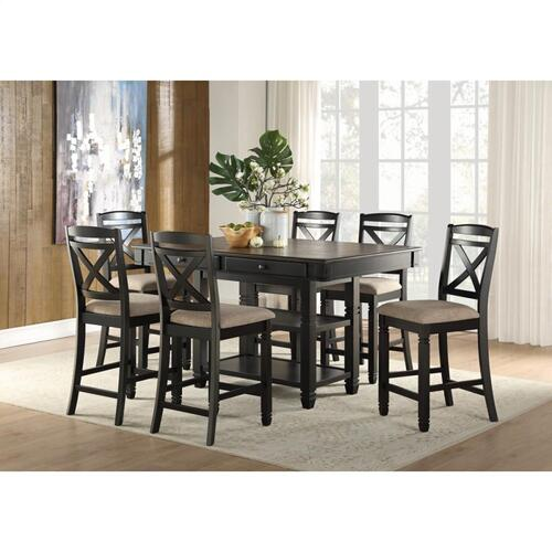 Homelegance - Homelegance 5705BK-36 5705BK-24 Baywater Collection Dinette Set (Table and 6 Chairs)