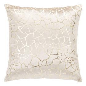 Verzla Pillow - Beige / Gold Foil