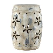 See Details - Ilia Garden Stool - Antiqued Cream