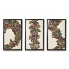 Kantha C Abstract Design w/Metal Frame