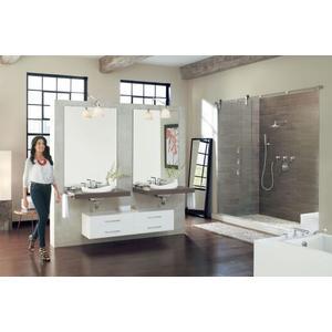 Arris chrome two-handle roman tub faucet