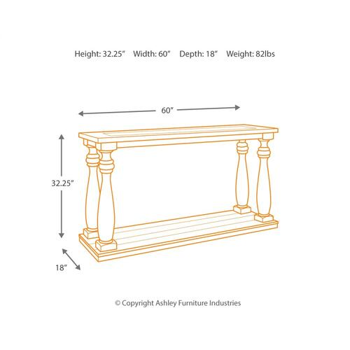 Mallacar Sofa/console Table