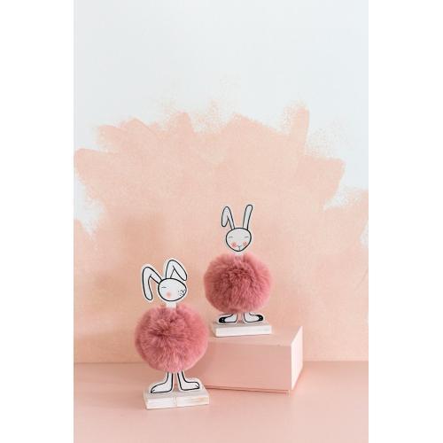"3.25""x 6.5"" Tutu Bunny Figurine (Profile Option)"