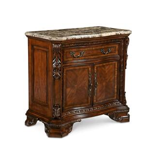 Old World Marble Top Nightstand