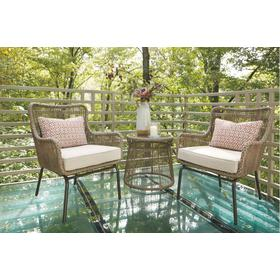 Cotton Road Chairs w/Cushion/Table Set Brown