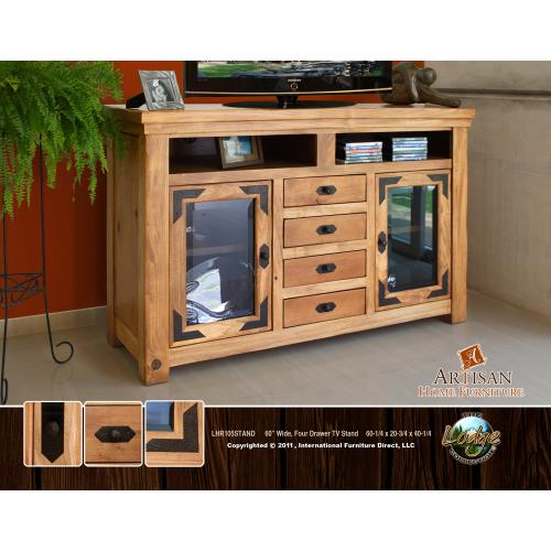 """Artisan Home Furniture - 60"""" Wide, Four Drawer TV Stand"""