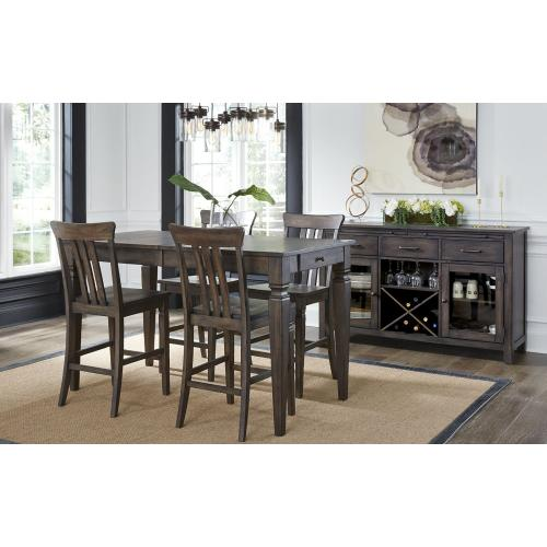 5 Piece Set (Extension Pub Table and 4 Barstools)