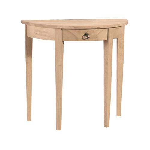 Product Image - Unfinished Half Round Table