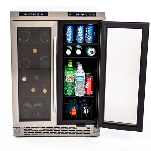 19 Bottle / 66 Can Dual-Zone Wine & Beverage Center