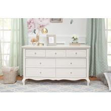 Mirabelle 7-Drawer Dresser in Warm White