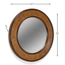 Leather Porthole Mirror