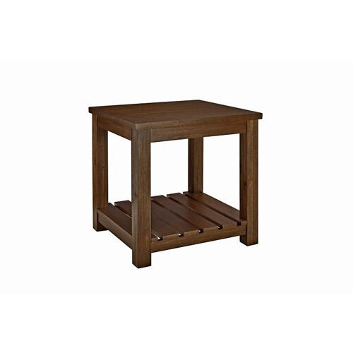 Highlands End Table, Brown