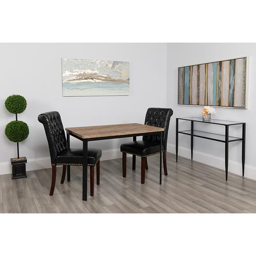 """Avalon 30"""" x 45.75"""" Rectangular Dining Table in Distressed Driftwood Finish"""