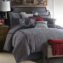 Hamilton 4-pc Comforter Set, Charcoal Gray - Full