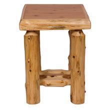 Open Nightstand - Vintage Cedar
