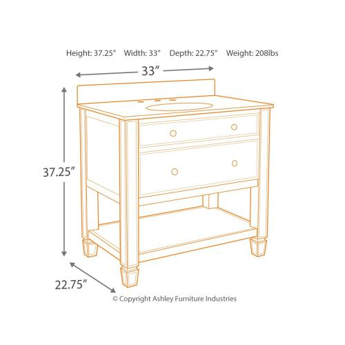 Becky Accent Cabinet and Sink