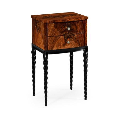 Black Barleytwist Lamp Table