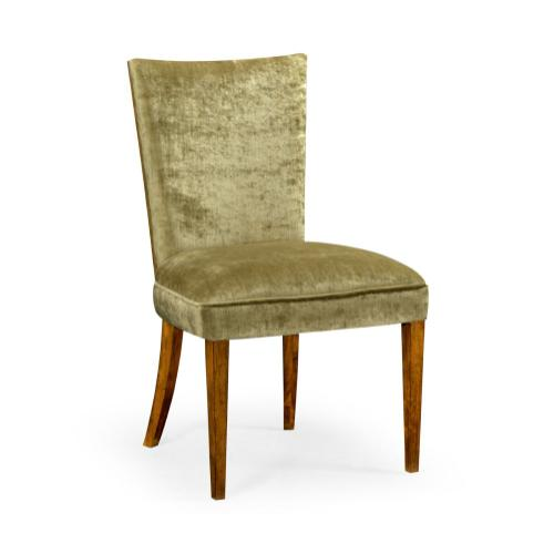 Biedermeier Style Walnut Dining Side Chair (Lime Green)