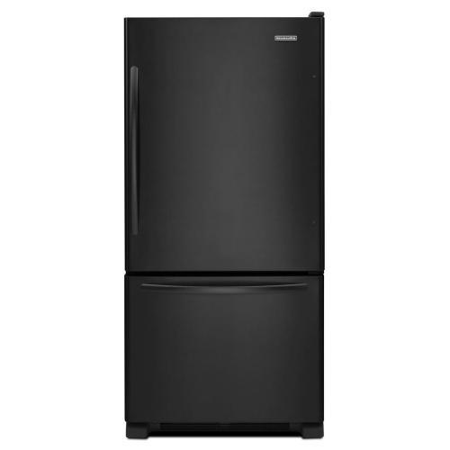 KitchenAid - 19 Cu. Ft. Standard-Depth Bottom-Freezer Refrigerator, Architect® Series II - Black