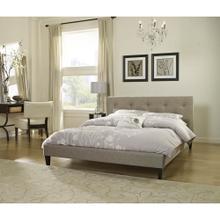 Hanover Mattress Kensington Linen Tufted Full Platform Bed Frame, HBEDUPKENS-LN-FL
