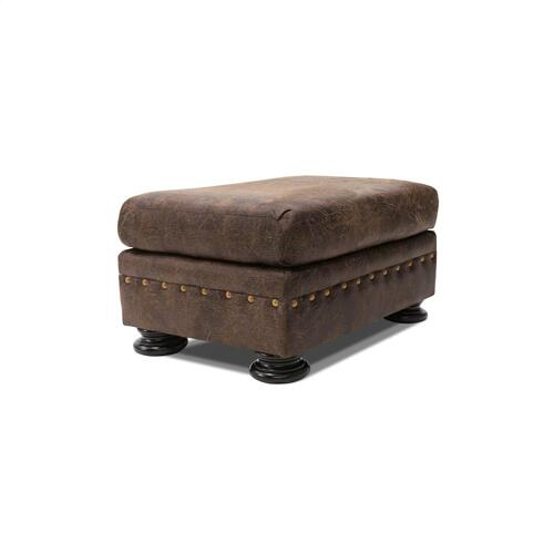 Wyoming Leather Look Upholstered Ottoman
