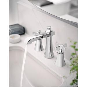 Flara chrome two-handle bathroom faucet