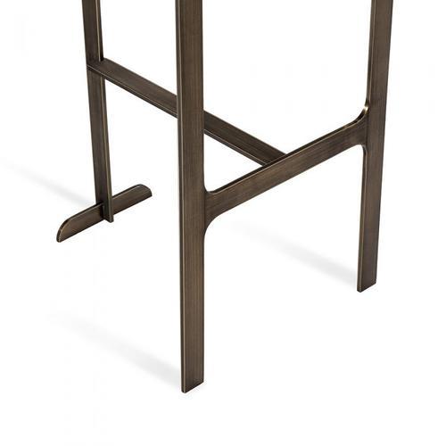 Hollis Bar Stool - Grey/ Bronze